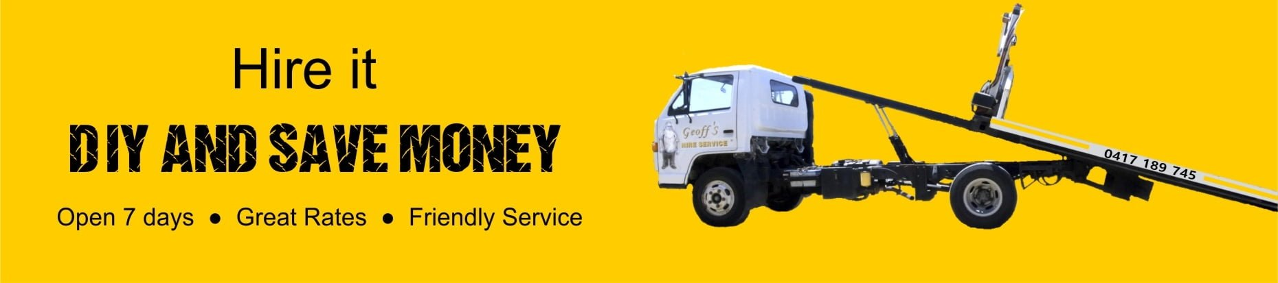 home banner - trayback truck hire it, DIY and save money