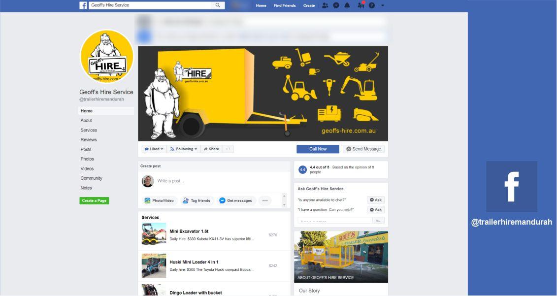 Facebook page @trailerhiremandurah