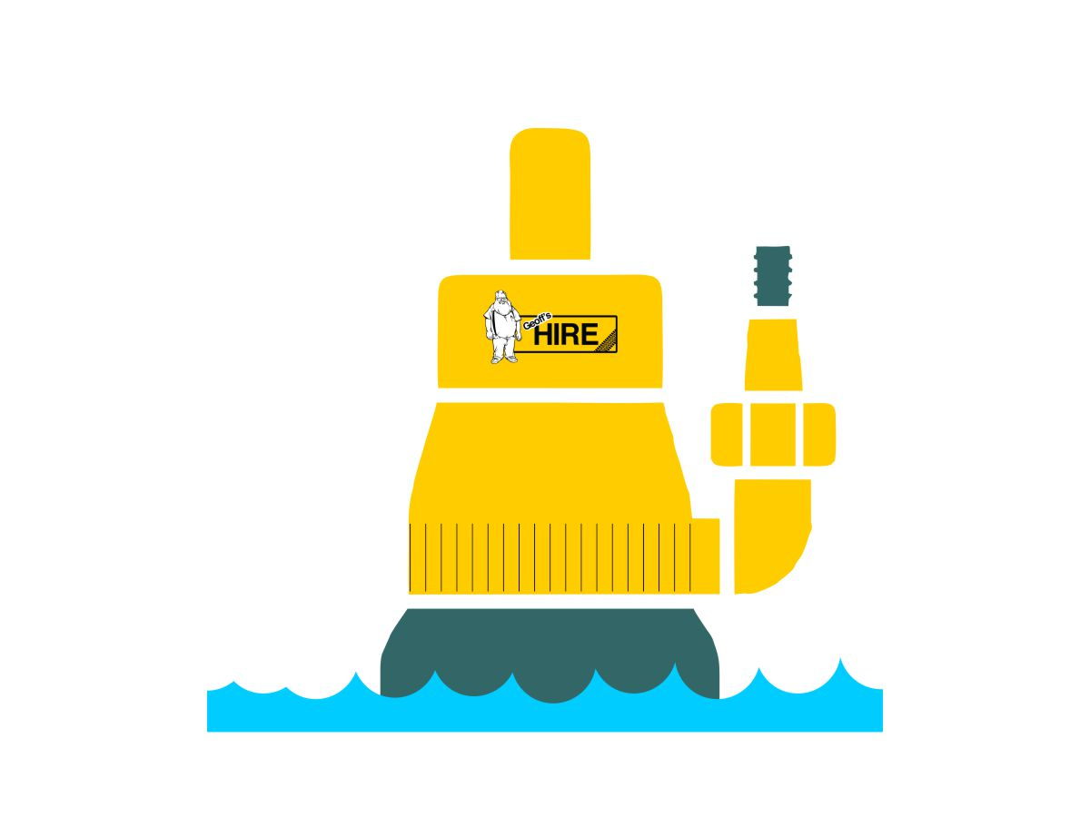 graphic of submersible pump