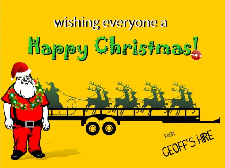 Happy Christmas message from Geoff